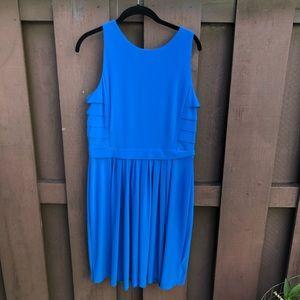 Blue sleeveless Ralph Lauren drape dress size 12